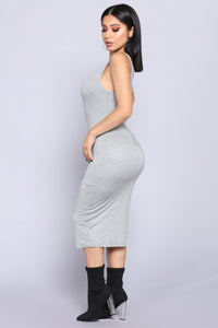 Penny Midi Dress - H.Grey Angle 3