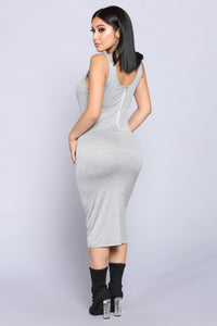 Penny Midi Dress - H.Grey Angle 4