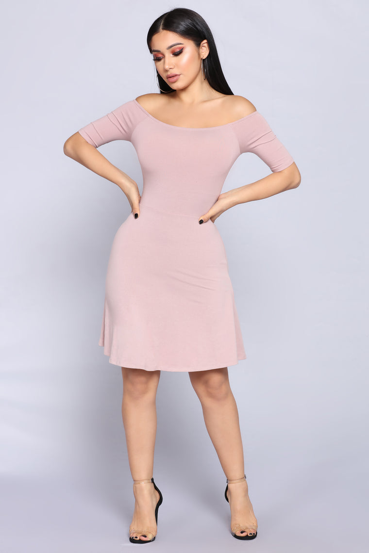 Seanna Skater Dress - Mauve