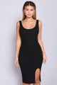 Bittersweet Midi Dress - Black