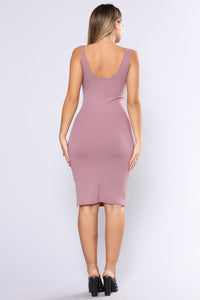 Bittersweet Midi Dress - Plum