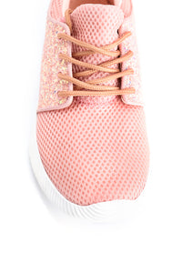 Sparkle In Stride Sneaker - Pink Angle 7