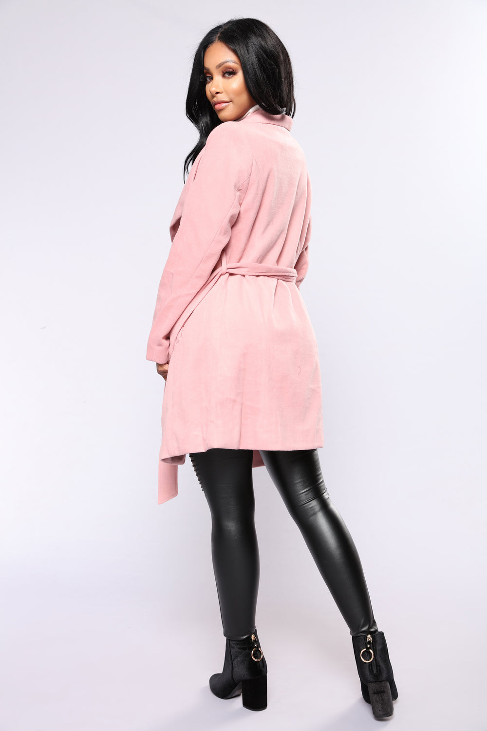 City Girl Vibes Coat - Pink
