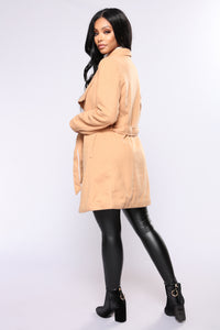 City Girl Vibes Coat - Camel