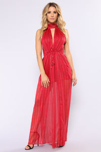 Out In The Terrace Maxi Dress - Red