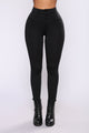 Synia Zipper Ponte Leggings - Black