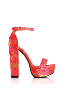 In Full Blossom Heel - Red