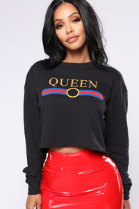 Yas Queen Sweatshirt - Black