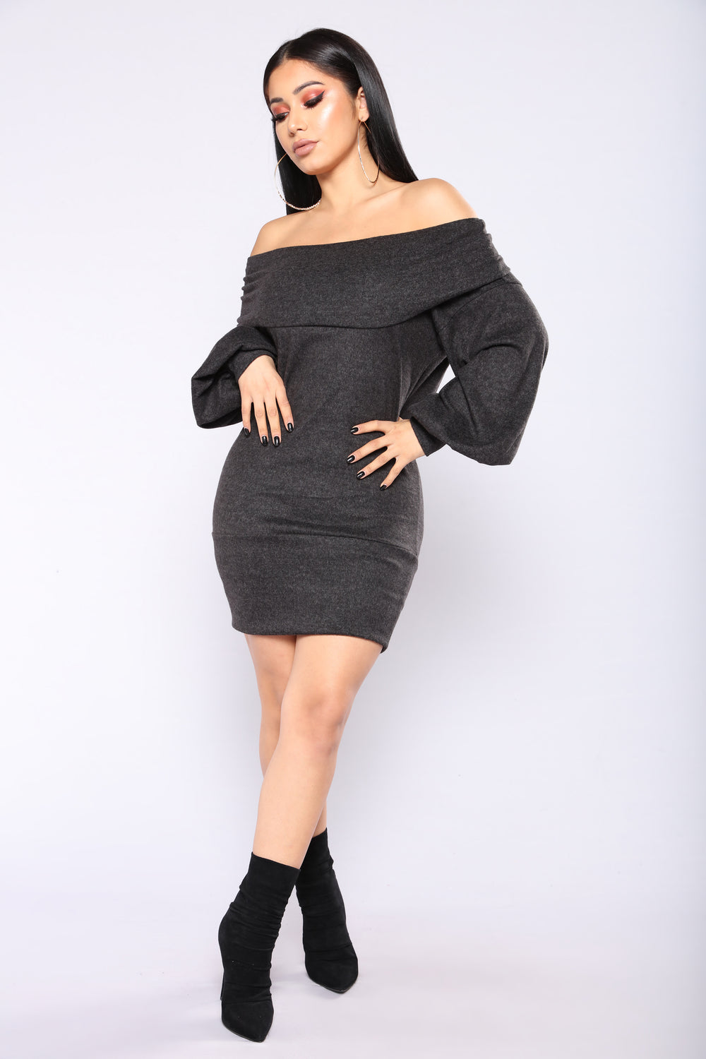 Hey Hold Up Sweater Dress - Black