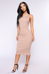Alysson Knit Dress - Khaki
