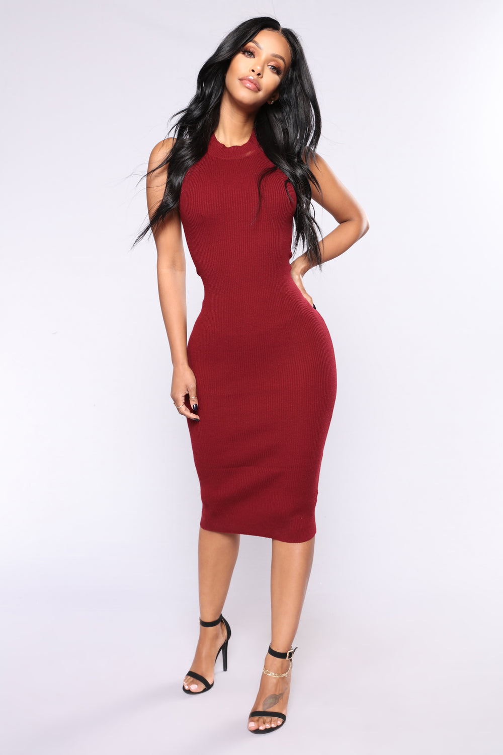 Alysson Knit Dress - Burgundy