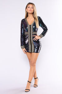 Show Me Some Sequins Dress - Multi