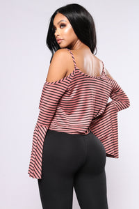 Juniper Bell Sleeve Top - Mauve