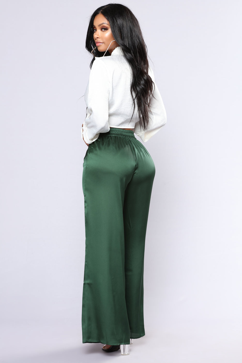 Buy Yomsong Women's High Waist Shiny Satin Neon Disco Pants and other Clothing at bestkapper.tk Our wide selection is elegible for free shipping and free returns/5().