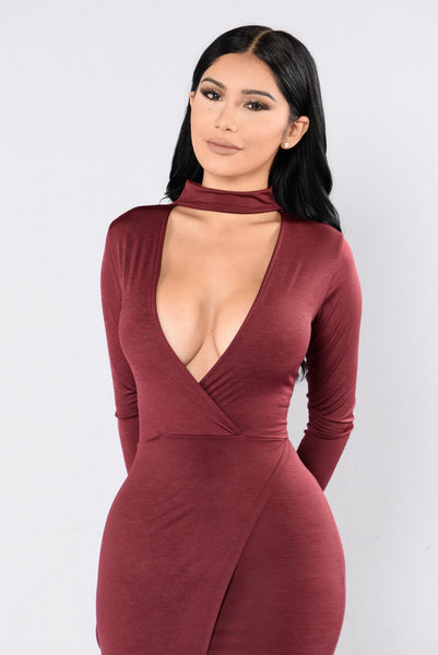 No Limits Dress - Wine