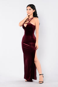 Bad Influence Dress - Burgundy