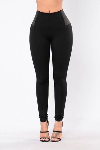 Casual Party Pants - Black