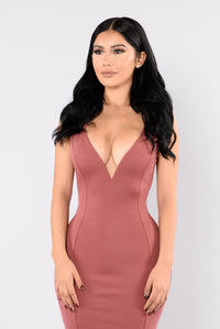 About That Life Dress - Marsala