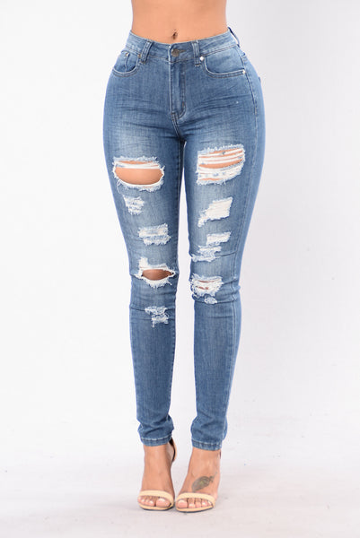 You Lost Me Jeans - Medium Blue