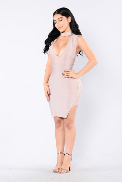 Piece Of Me Bandage Dress - Champagne