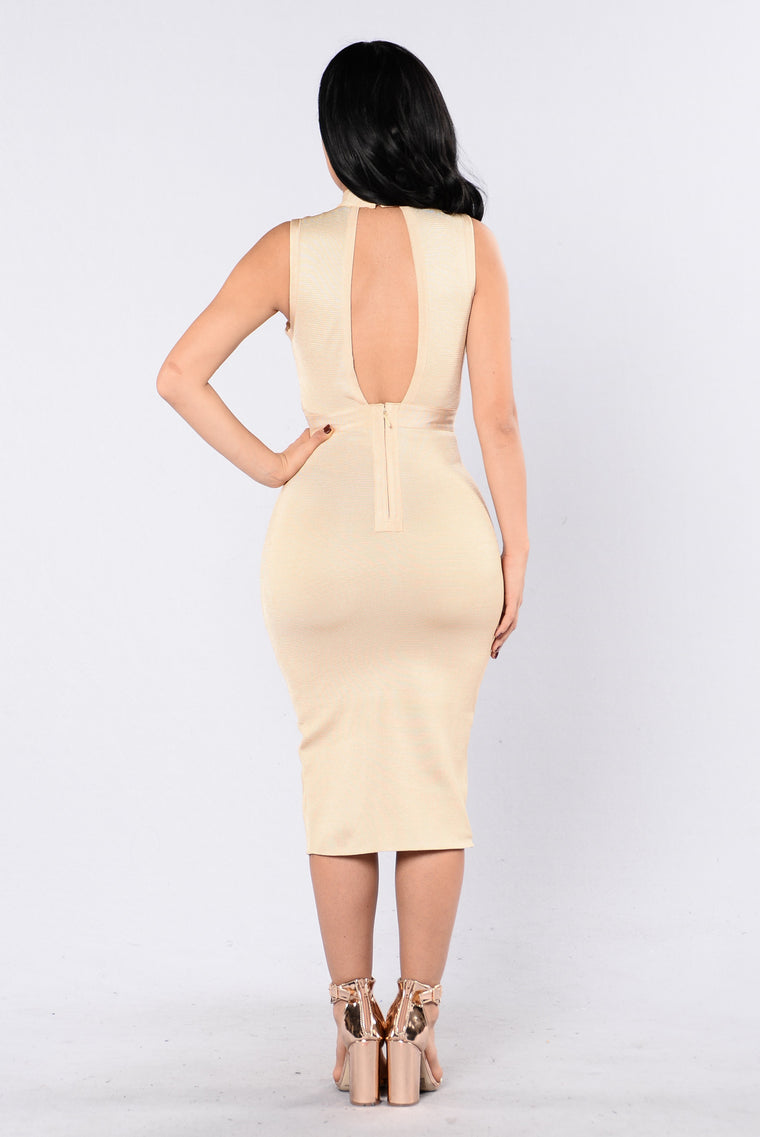 Magical Chemicals Bandage Dress - Sand