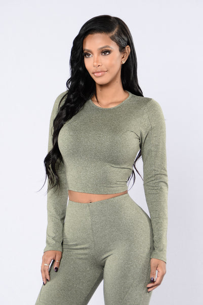Maxin' Relaxin' Top - Olive