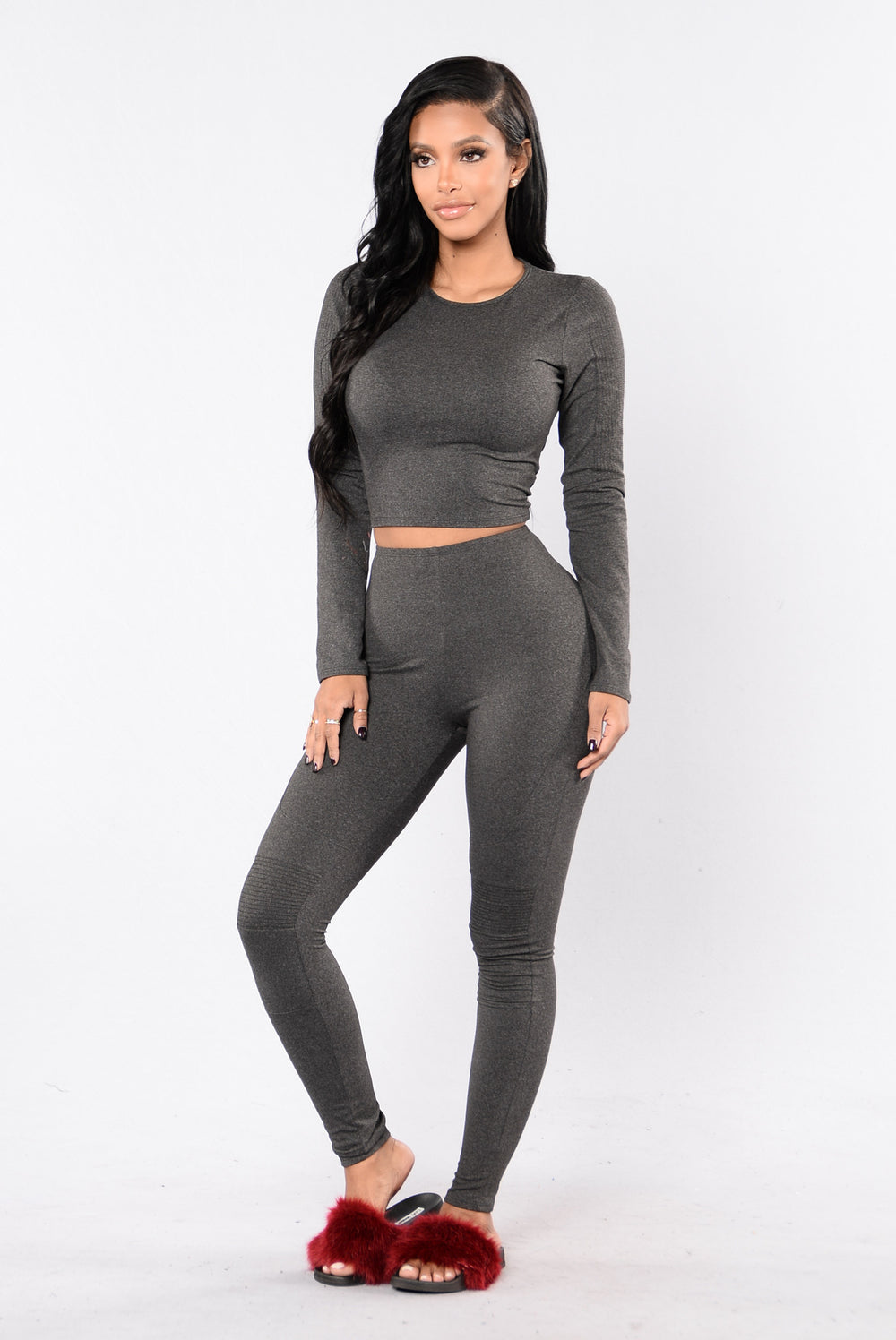 Maxin' Relaxin' Top - Charcoal