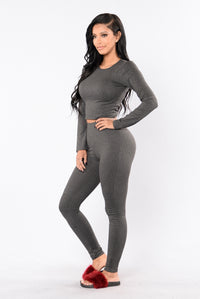 Maxin' Relaxin' Leggings - Charcoal