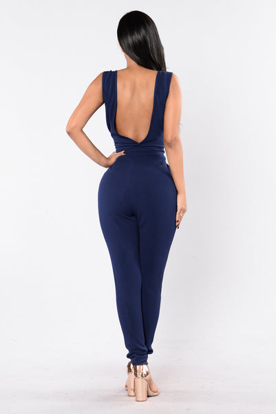 That's The Motive Jumpsuit - Navy