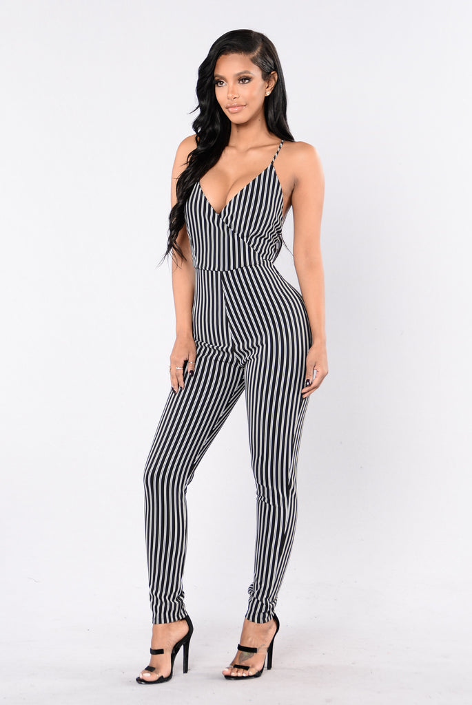 Watch Me Take Off Jumpsuit - Black