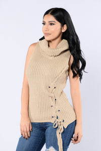 Up To No Good Sweater - Taupe