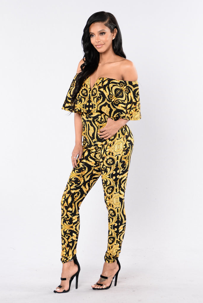 Mansion Party Jumpsuit - Black