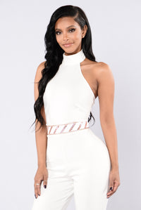 Unexpected Romance Jumpsuit - White