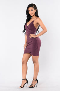 Women In Love Dress - Plum