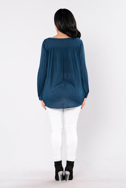 Waiting To Exhale Top - Teal
