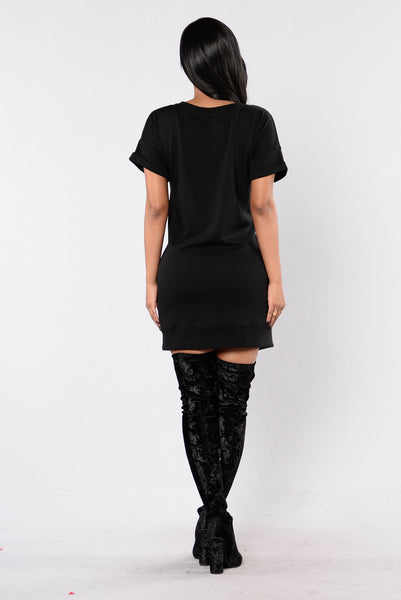 Push To The Edge Dress - Black