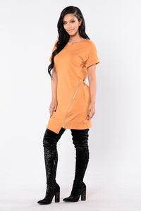 Push To The Edge Dress - Marigold