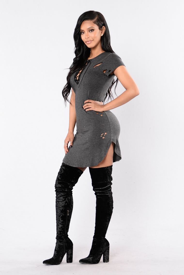 Stand Up Tunic - Charcoal