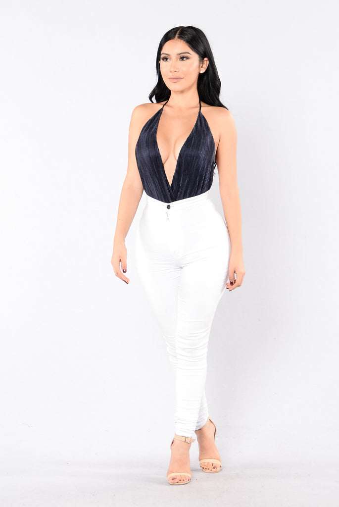 I Wanna Be Loved Bodysuit - Navy