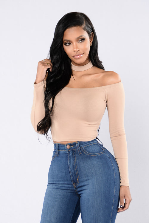 Bare It All Top - Taupe