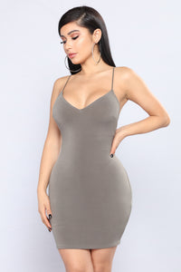 No Scrubs Dress - Olive