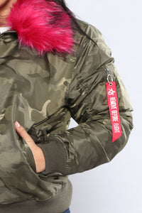 Lift Off Camo Jacket - Camo/Pink