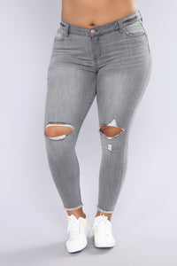 All Of This Winning Ankle Jeans - Grey