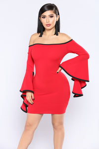 Time To Cha Cha Dress - Red/Black