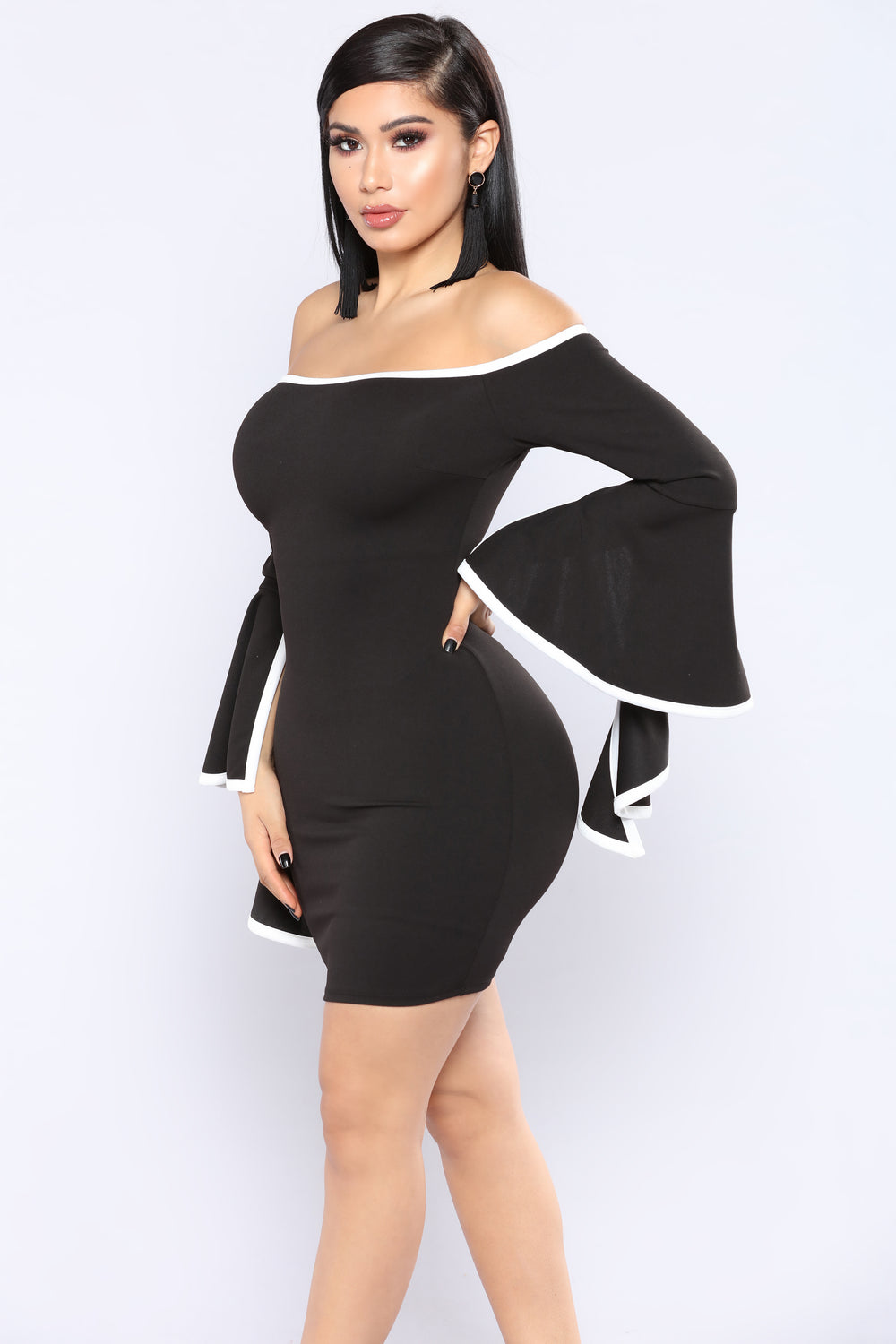 Time To Cha Cha Dress - Black/Ivory