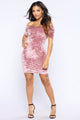 Yanni Velvet Dress - Mauve