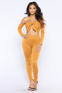 Never Tied Down Jumpsuit - Mustard