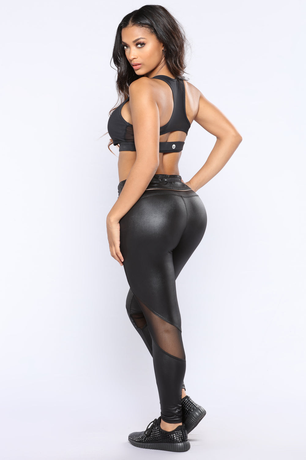 Don't Faux With Me Active Leggings - Black