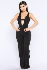 It's Now Or Never Jumpsuit - Black