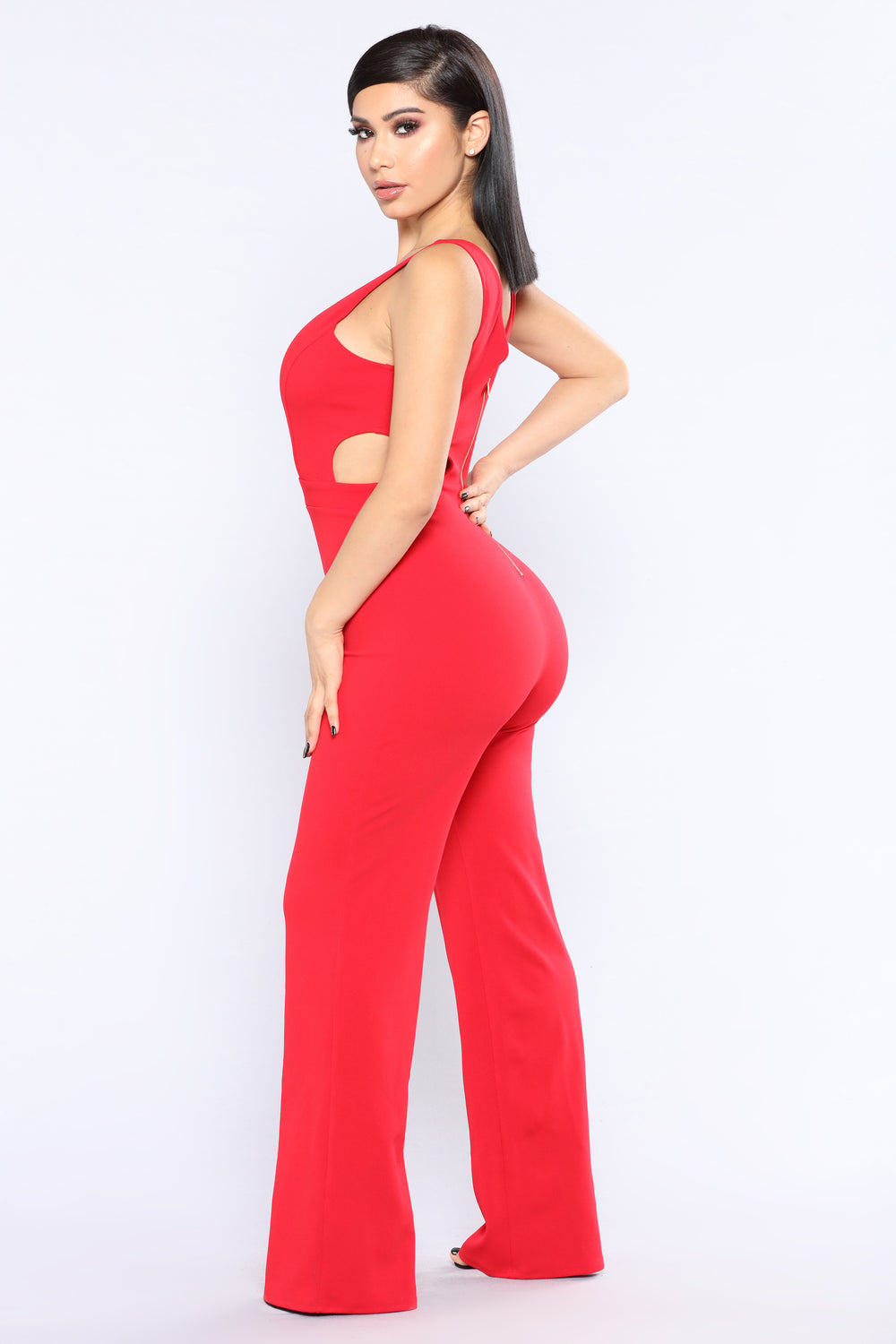 It's Now Or Never Jumpsuit - Red